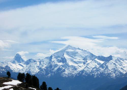 Weisshorn and Matterhorn