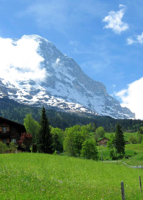 Eiger From above Grund
