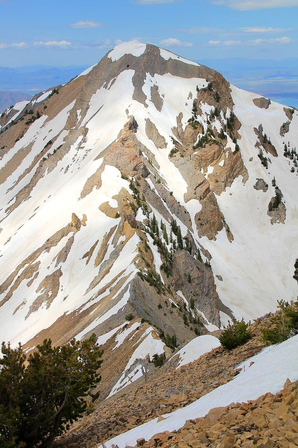 Provo Peak's east ridge.