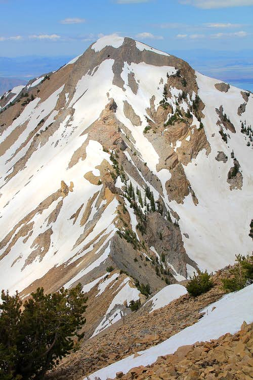 Provo Peak\'s east ridge.