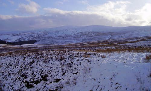 Snow on the Berwyn Mountains