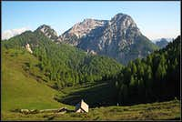 Malga Biffil and Monte Scinauz