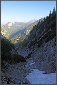 The upper Uccelli gorge