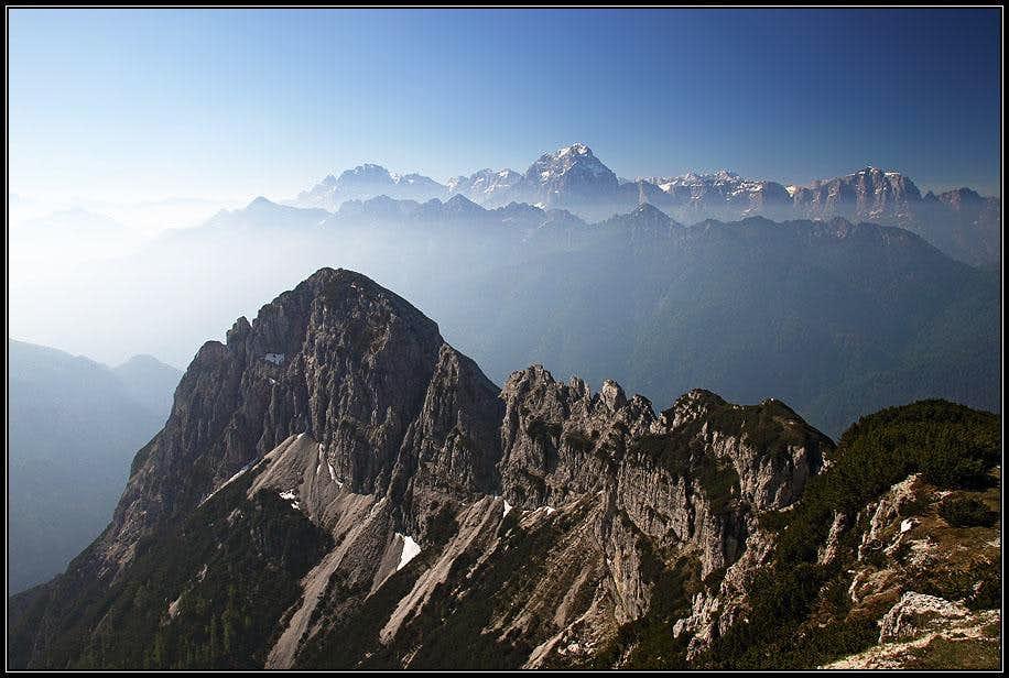 Western Julian Alps from Monte Scinauz