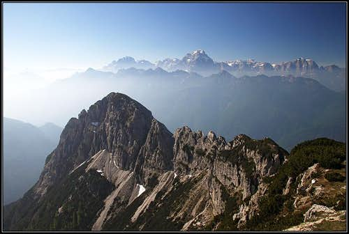 Western Julian Alps from Monte Scinauz