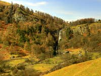 Pistyll Rhaeadr at head of Hanging Valley