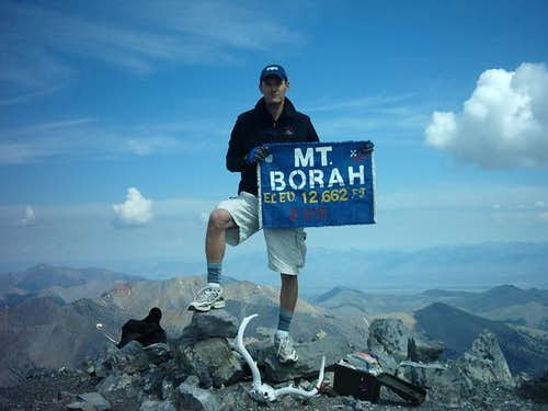 Summit of Mt. Borah, highest...