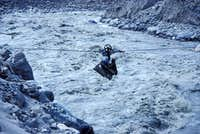 Crossing the Hispar River