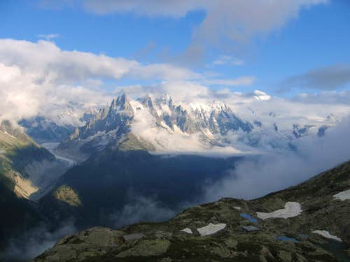 Chamonix Aiguilles from Lac Blanc