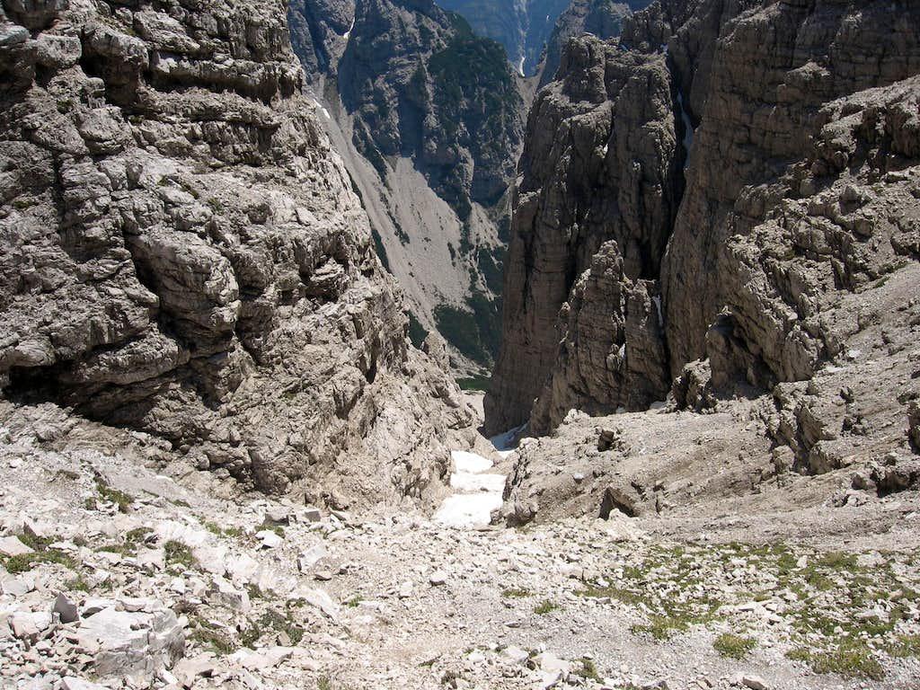 The Forcella Cimoliana, east side.