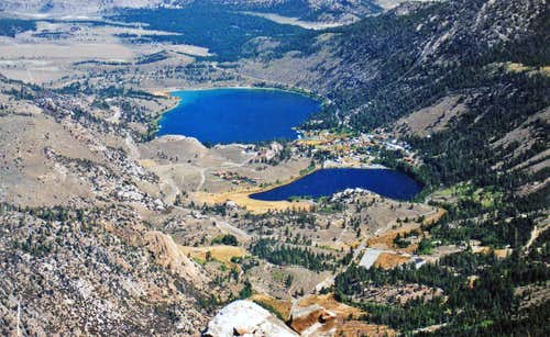 Looking down on June Lakes area from Carson Peak