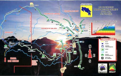 Chirripo Schematic Map