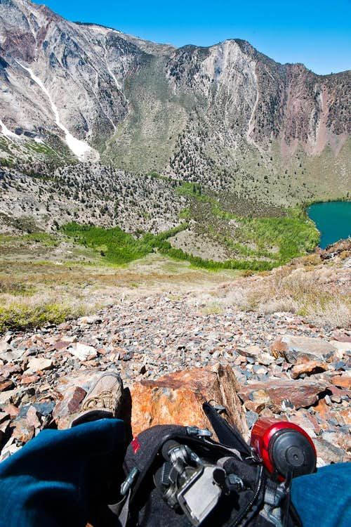 Climbing Up the Scree, Convict Lake