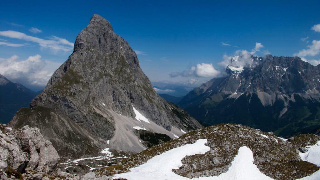 Ehrwalder Sonnenspitze and the Zugspitze