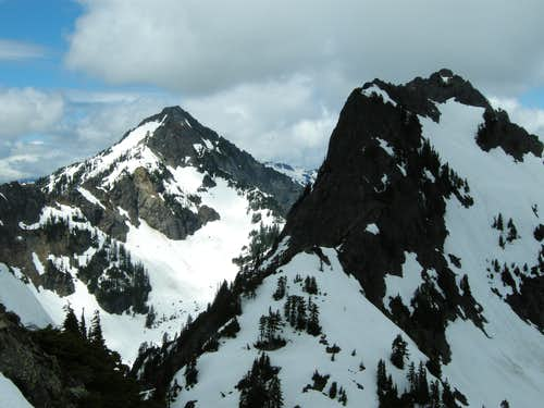 Kaleetan (left) and Chair Peak (right) from Summit