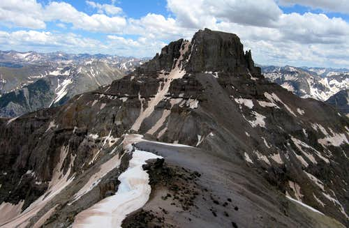 Potosi Peak North Couloir: Dodging Some Bullets