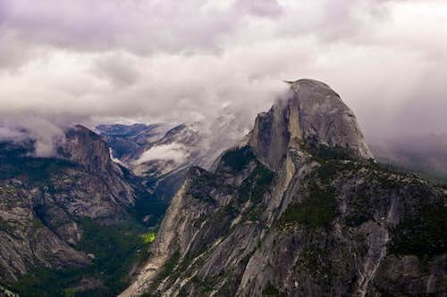 Clouds Over Half Dome, Yosemite Ca