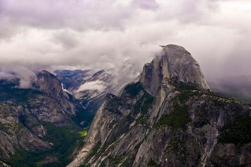 Clouds Over Half Dome, Yosemite Ca