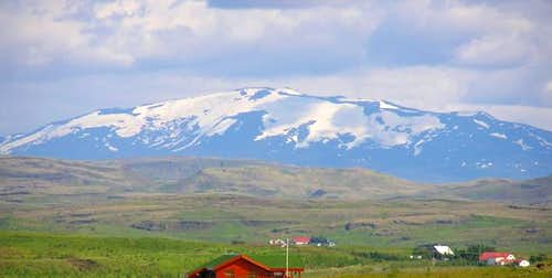 Hekla from the southwest...