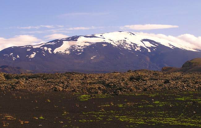 Hekla from the northwest as...