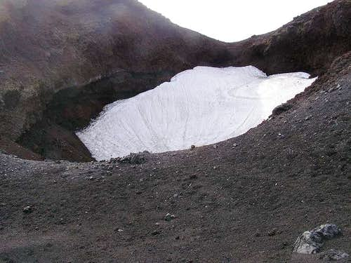 The first crater you come to...