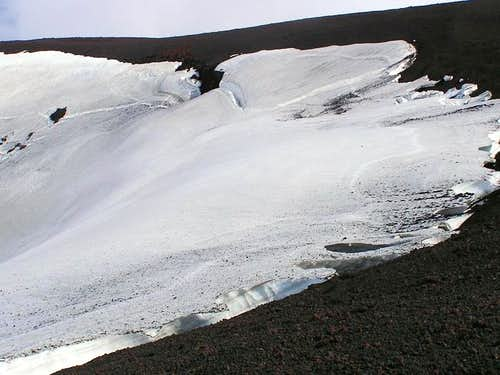 Top of the glacier on the...
