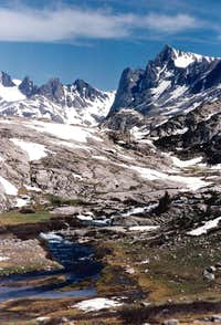 Below Titcomb lakes, Wind River Range
