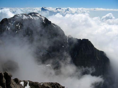 Monte Pelf seem from the summit of Schiara.