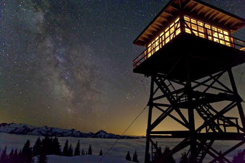 Fire lookout and Galactic Blaze