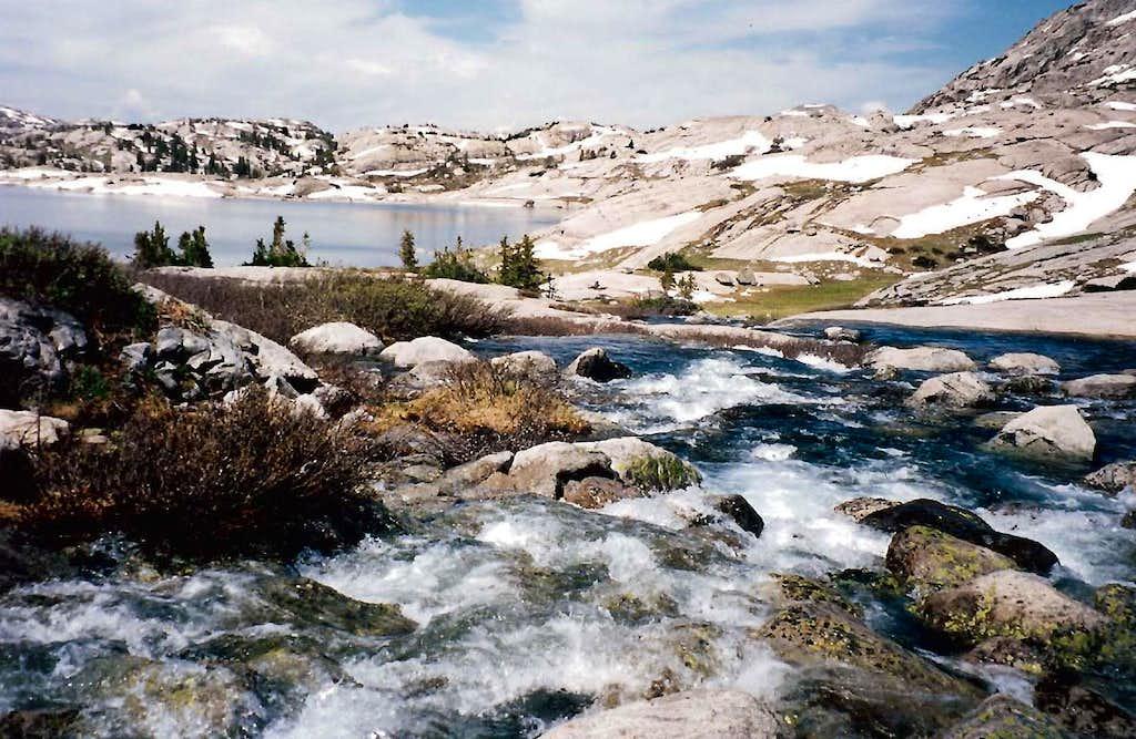 Glacier ground granite