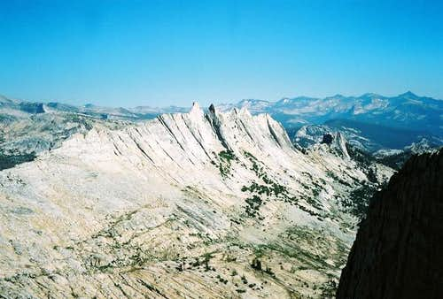 Matthes Crest from the summit...