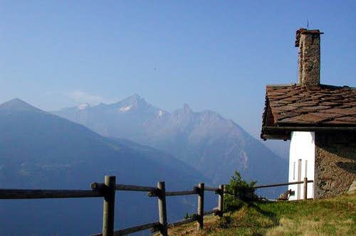 The small church in the...