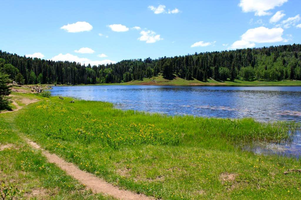 Trail along the lake
