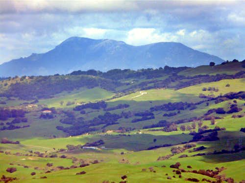 Mt. St. Helena, 4,343\' from Burdell Mtn.