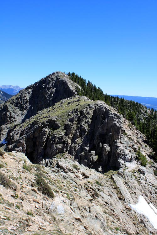 The ridge between Deception and Lake Peak