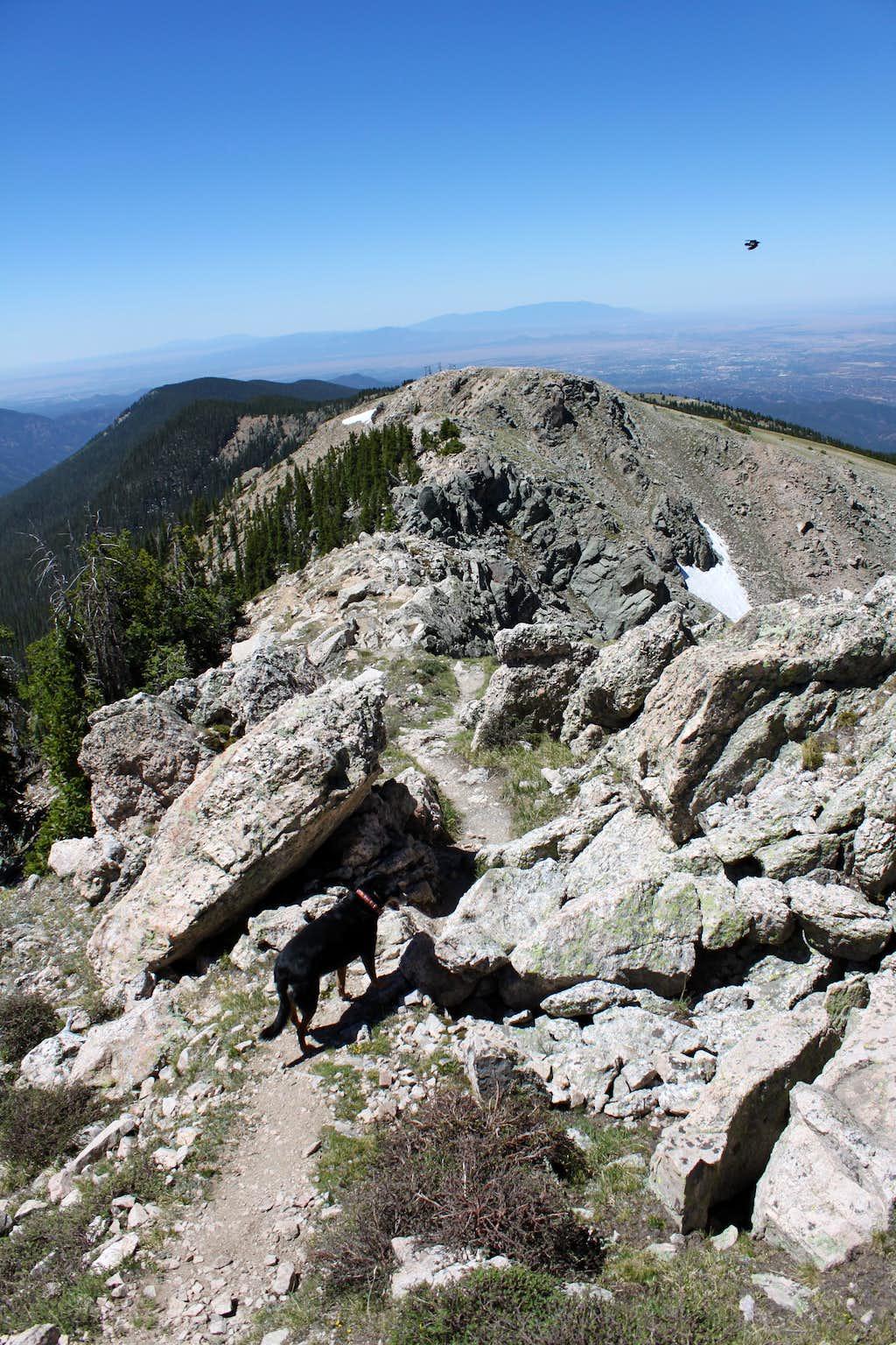 Ridge near the top of