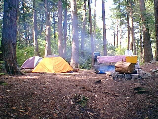 Campsite on Middle Saranac Lake