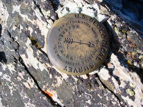 Lem Peak USGS Summit Marker