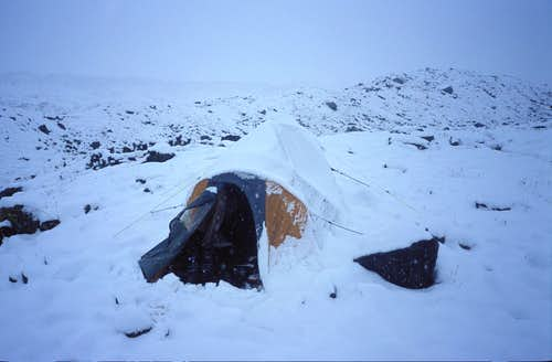 Snow at Base Camp