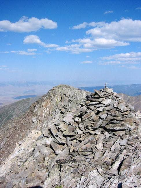 Large Summit Cairn at the...