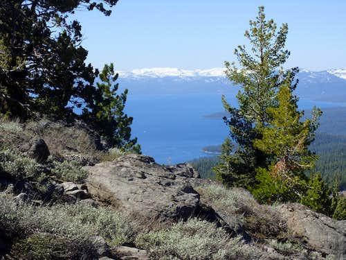 View southwest to Lake Tahoe