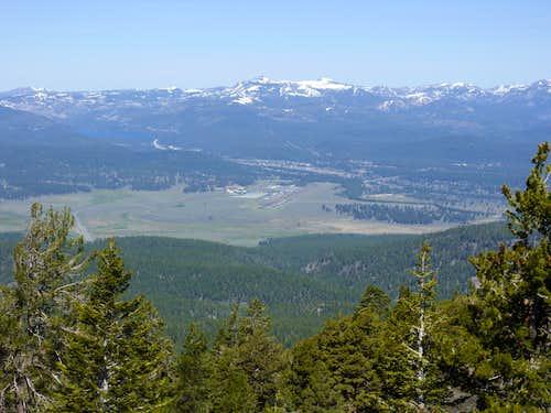 View northwest to Castle Peak and Basin Peak