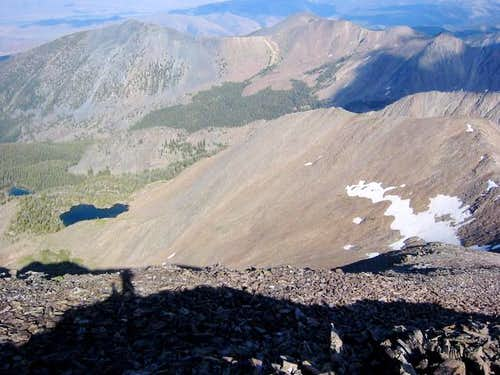 View of the talus field with...