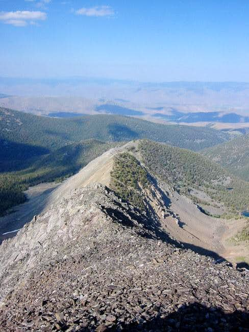 View of the Northeast Ridge...