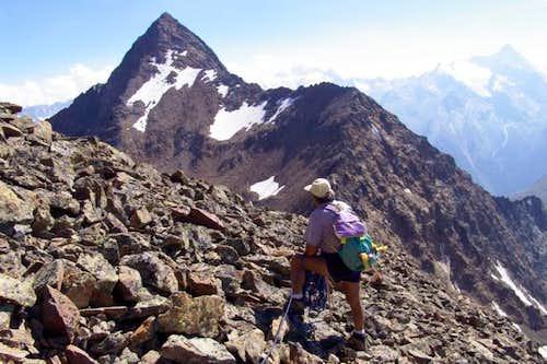 Garin Peak (3461m) and Mount Valaisan...