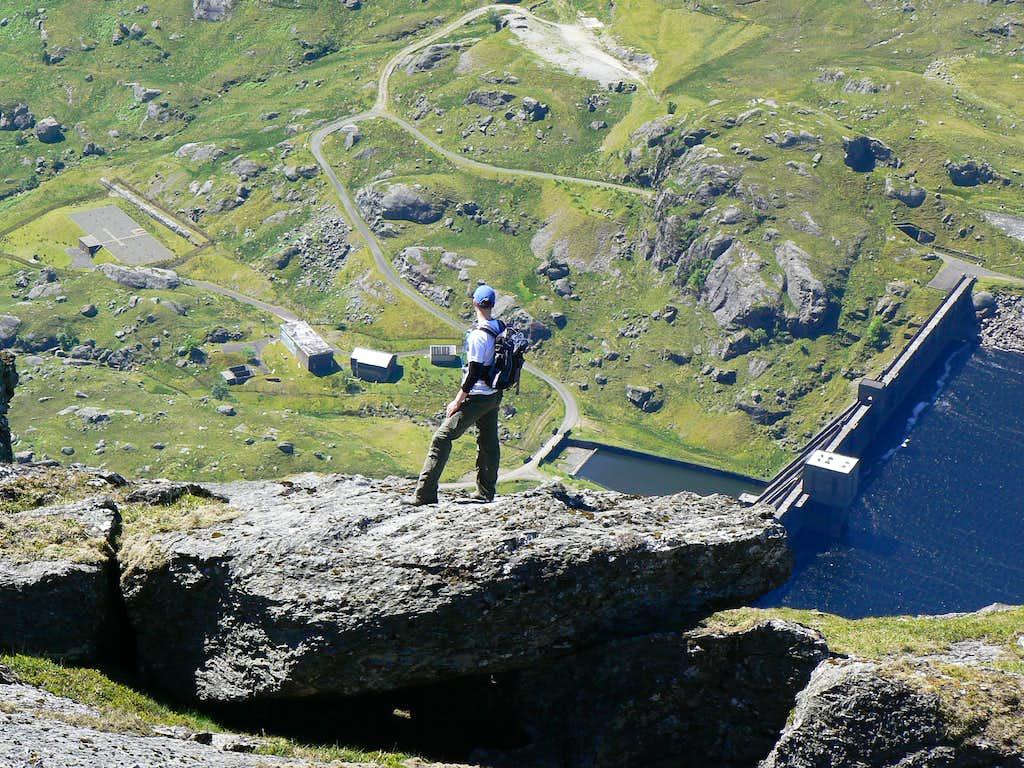 On the edge of the ridge