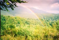 Rainbow over the canopy of world s treasure