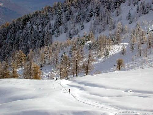 The slopes that brings to the...