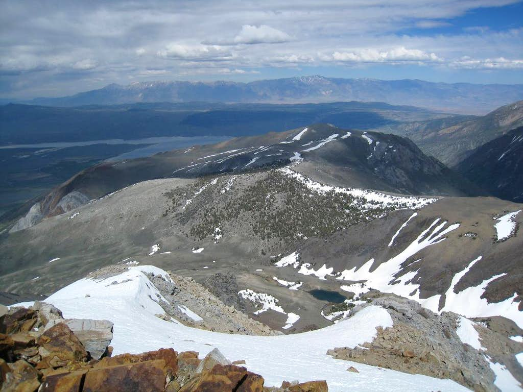 White Mountains from Mount Morrison
