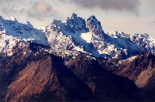 The imposing massif of...